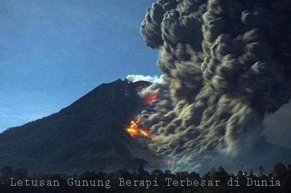 Letusan Gunung Berapi Terbesar di Dunia